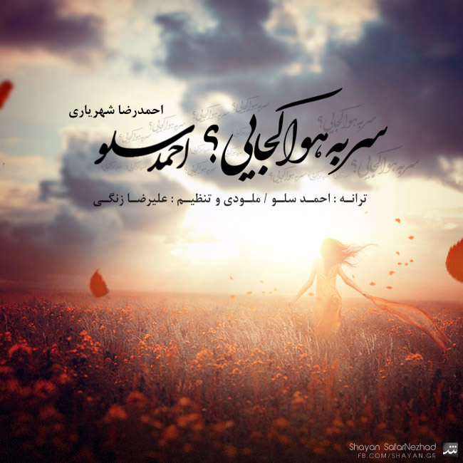 دانلود آهنگ جدید احمدرضا شهریاری ( احمد سلو ) به نام سر به هوا کجایی ؟